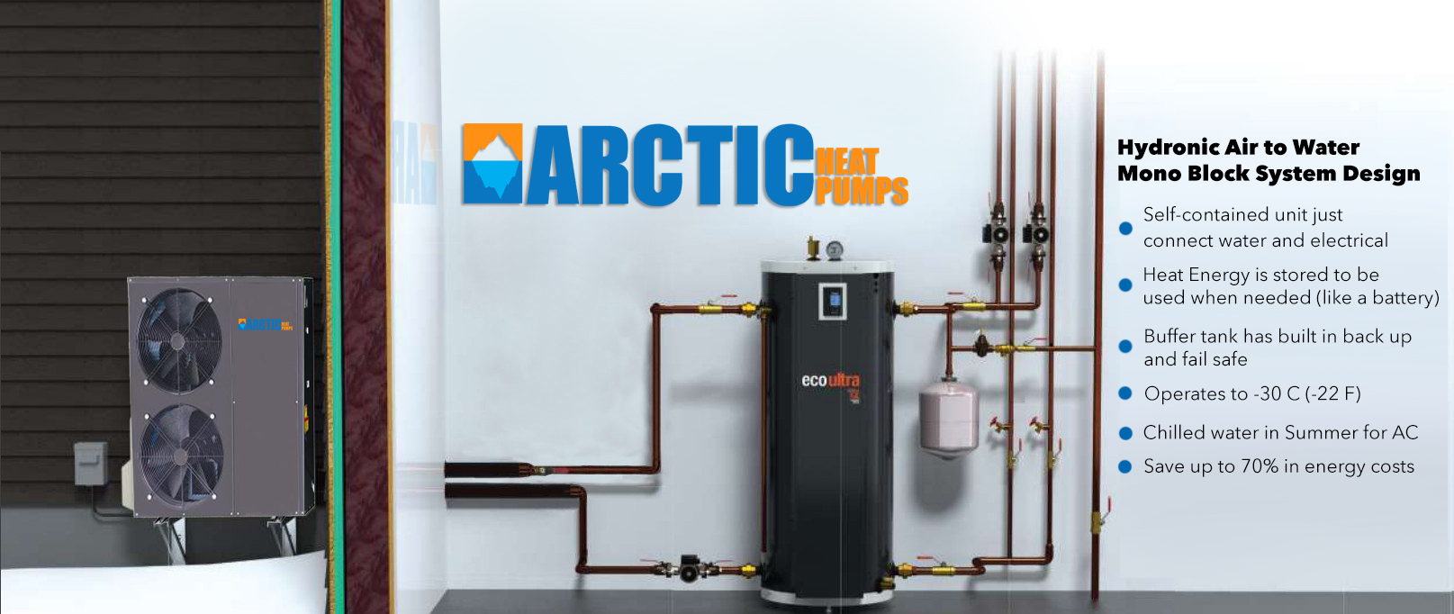 Arctic Heat pumps - Cold Climate Air to Water Heat Pumps for