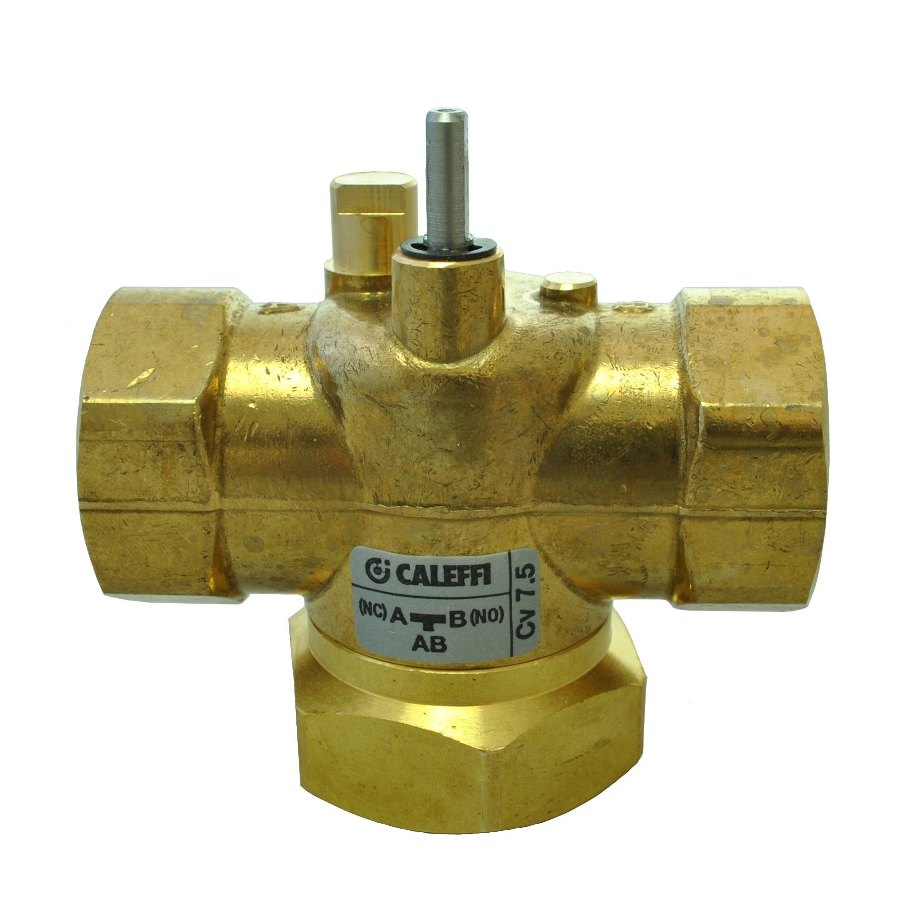Caleffi Z-one - 1 NPT 3-way Straight Valve Body for Motorized Zone Valves