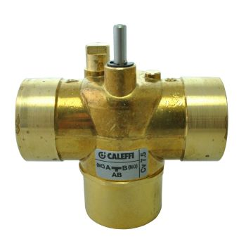 Caleffi Z-one - 1 1/4 Sweat 3-way Straight Valve Body for Motorized Zone Valves