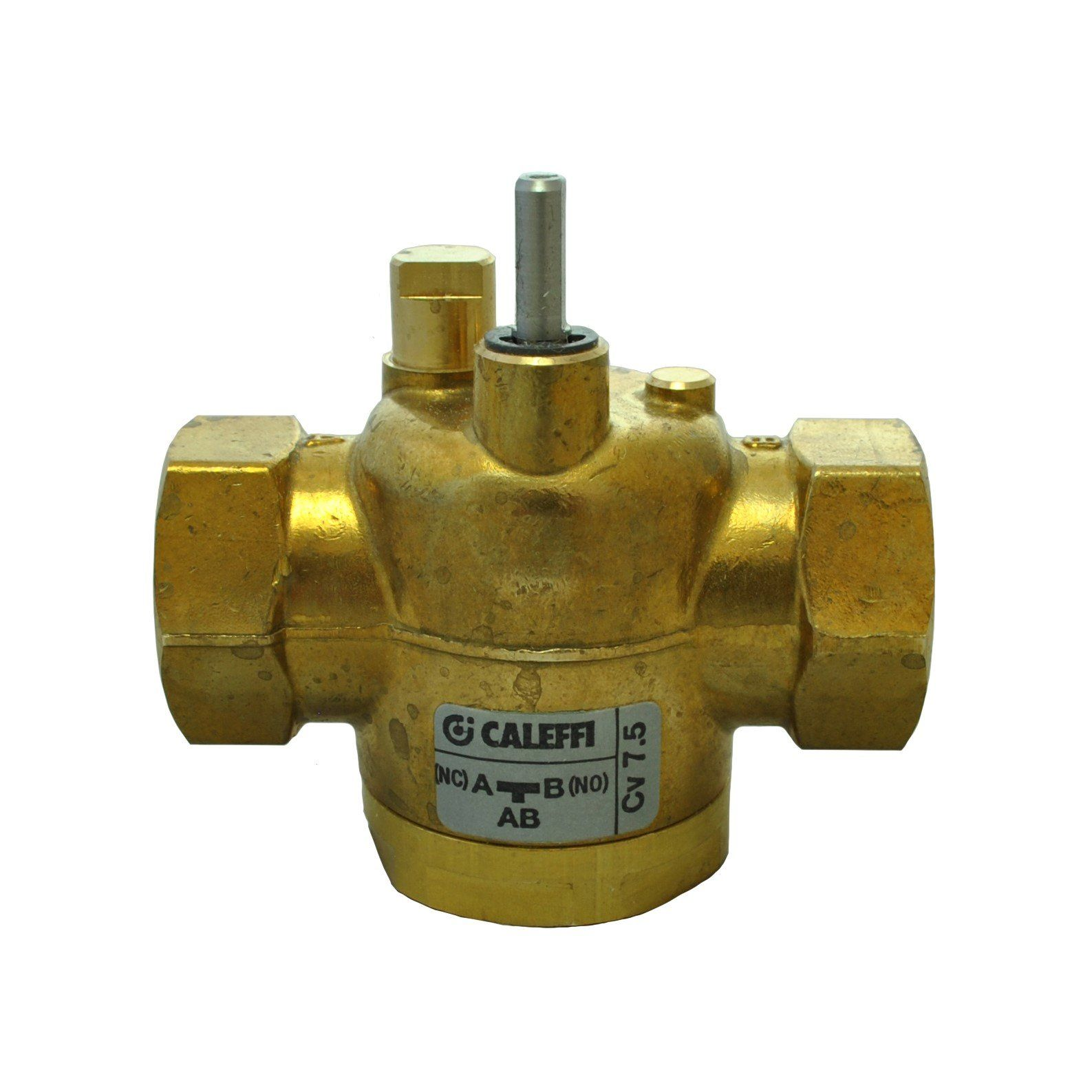 Caleffi Z-one - 3/4 NPT 3-way Straight Valve Body for Motorized Zone Valve