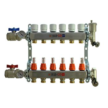 6 Port Manifold with 1/2