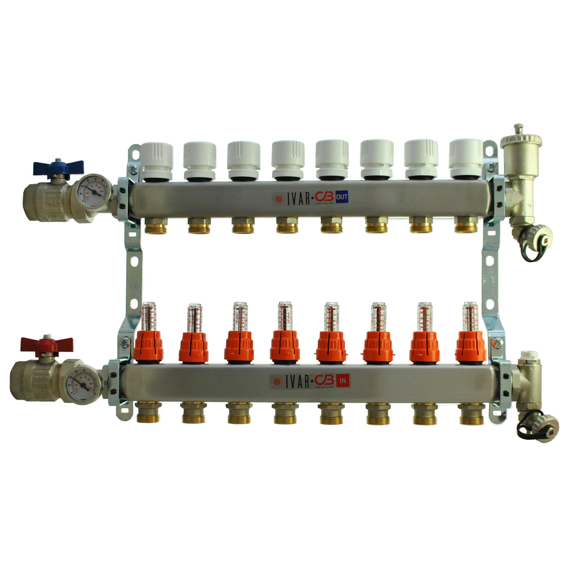 8 Port Manifold with 1/2