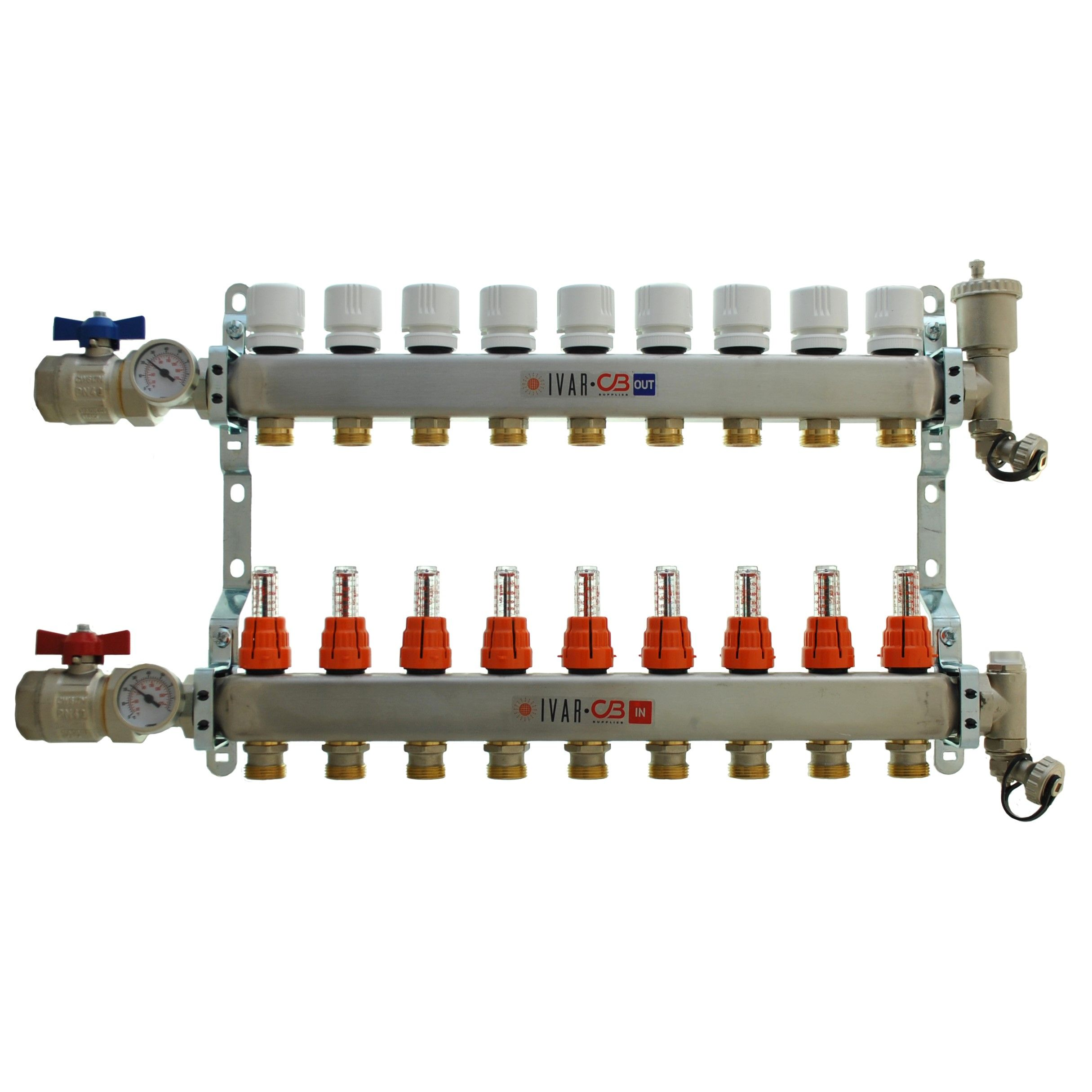 9 Port Manifold with 1/2