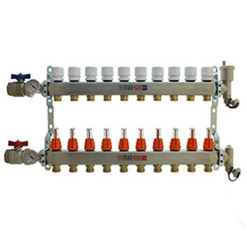 10 Port Manifold with 1/2