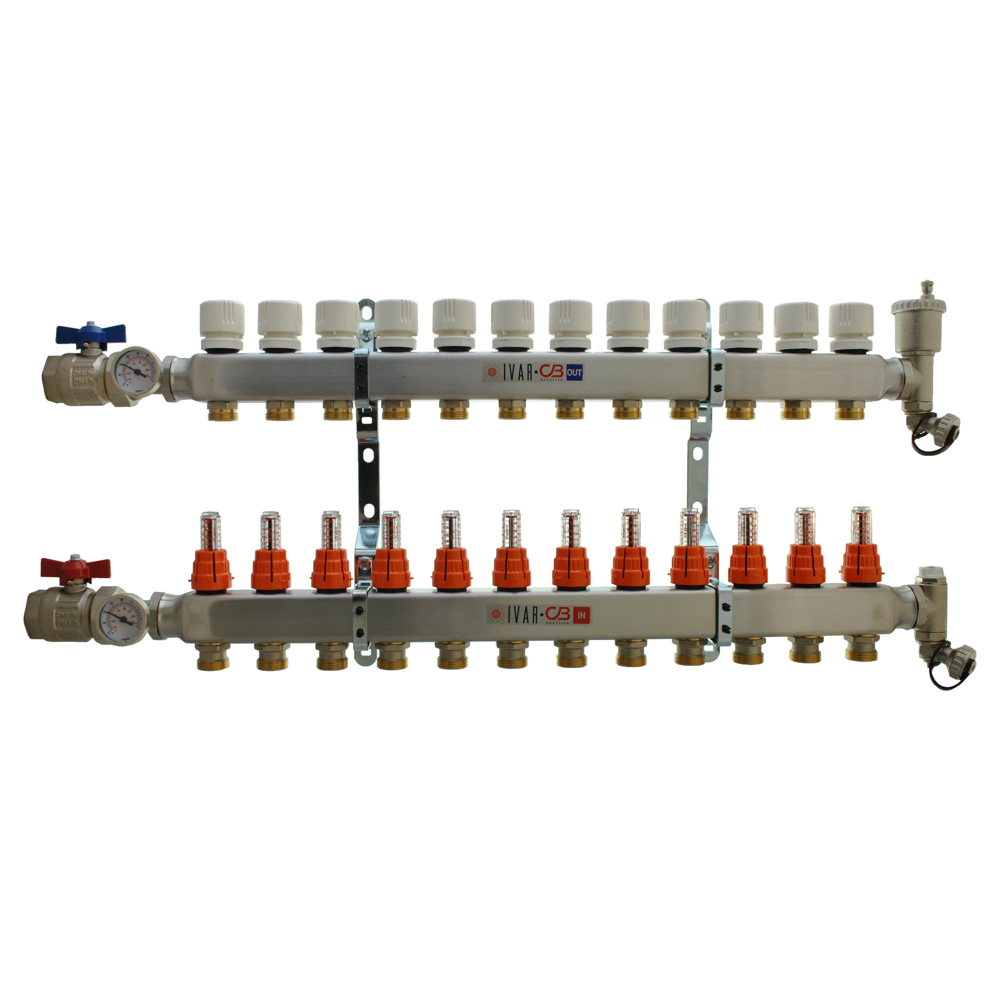 12 Port Manifold with 1/2