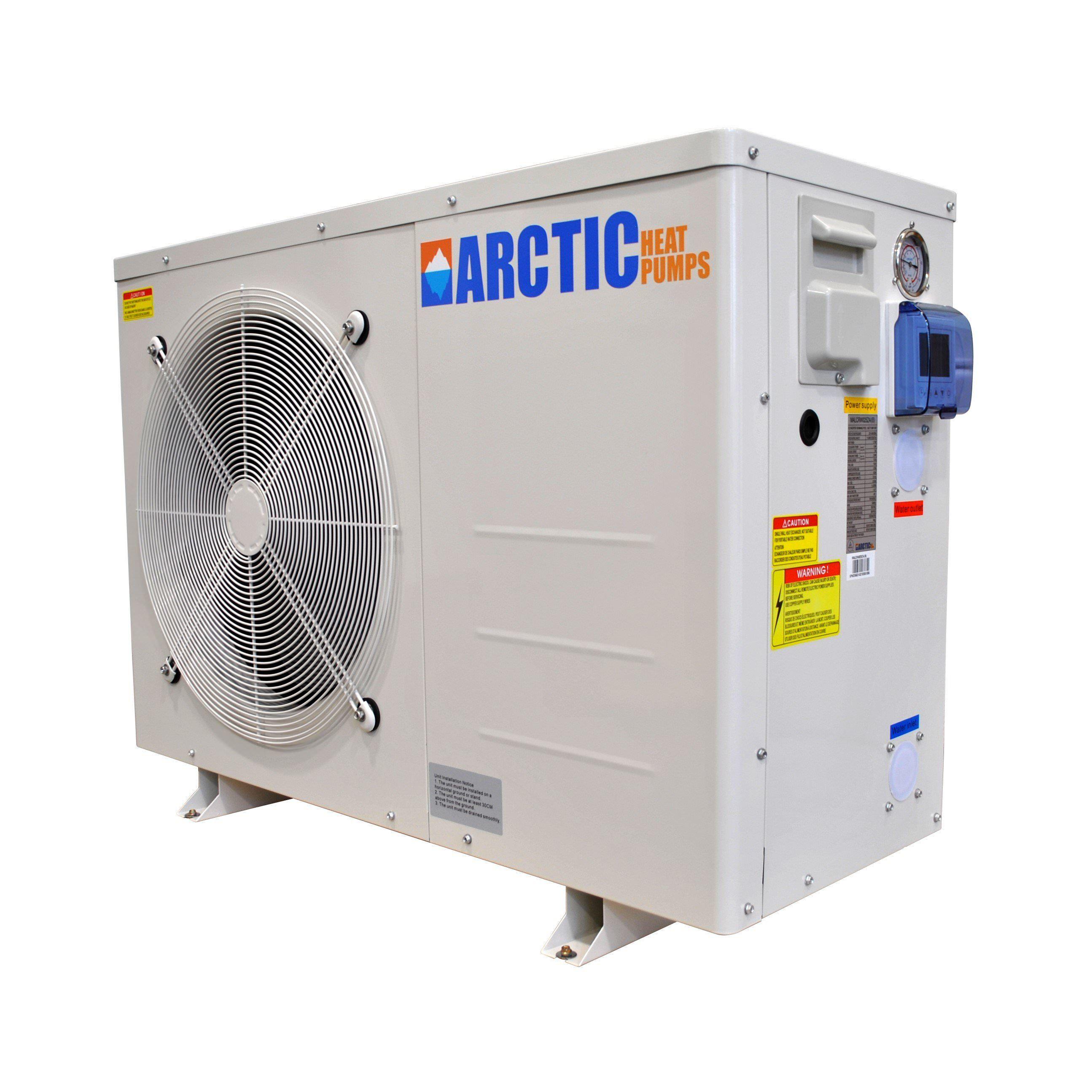 Arctic Titanium Heat Pump for Swimming Pools and Spas - Heats & Chills - 37,500 BTU - DC Inverter